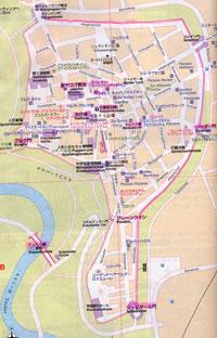 町の平面図