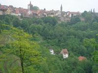 ローテンブルクの町遠望
